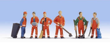 Noch - N15029 - City Cleaners (6) and Accessories Figure Set