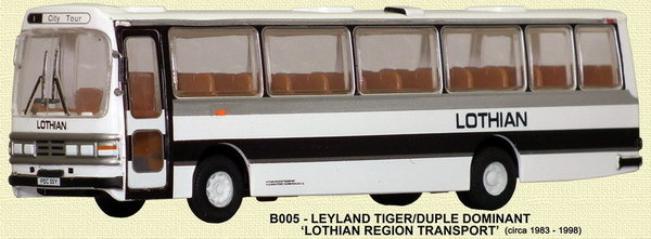Base Toys - B005 - Duple Dominant II Coach - Lothian Coaches
