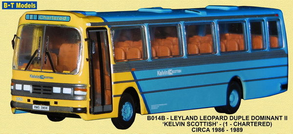 Base Toys - B014B - Leyland Leopard - Kelvin Scottish - Route 1 (Chartered)