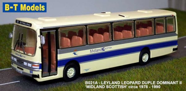Base Toys - B021A - Leyland Leopard - Duple - Midland Scottish - Route 39