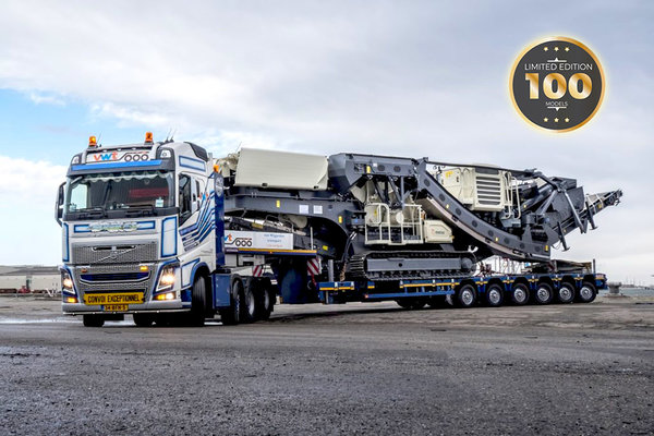 IMC - 33-0102 LIMITED EDITION Van Wijgerden Volvo FH04 Globetrotter 8x4 with Nooteboom MCO-PX 6 axle