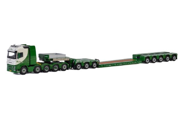 WSI 01-2676 - Beelen Volvo FH4 Globetrotter 10x4 with 5 Axle Low loader & 3 Axle Inter Dolly